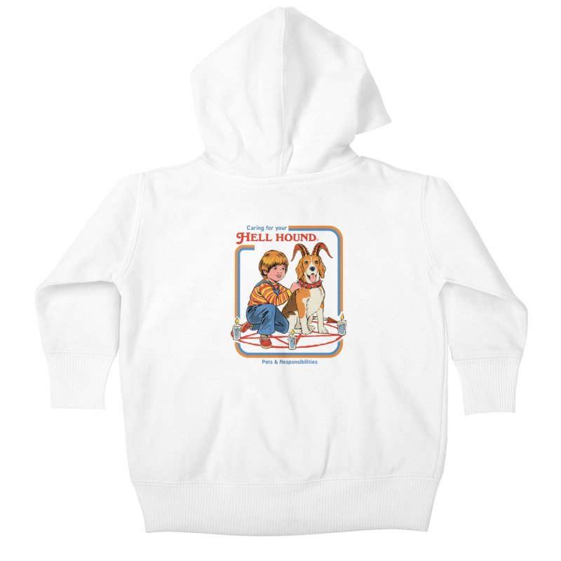 Caring For Your Hell Hound Kids Baby Zip-Up Hoody by Steven Rhodes
