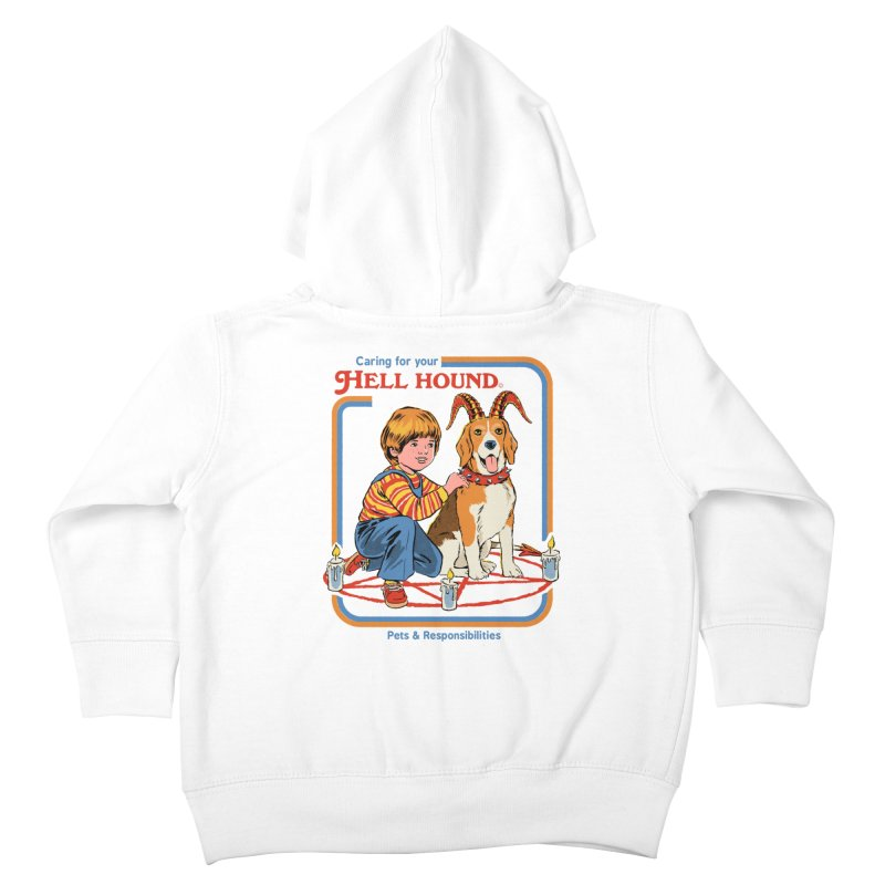 Caring For Your Hell Hound Kids Toddler Zip-Up Hoody by Steven Rhodes