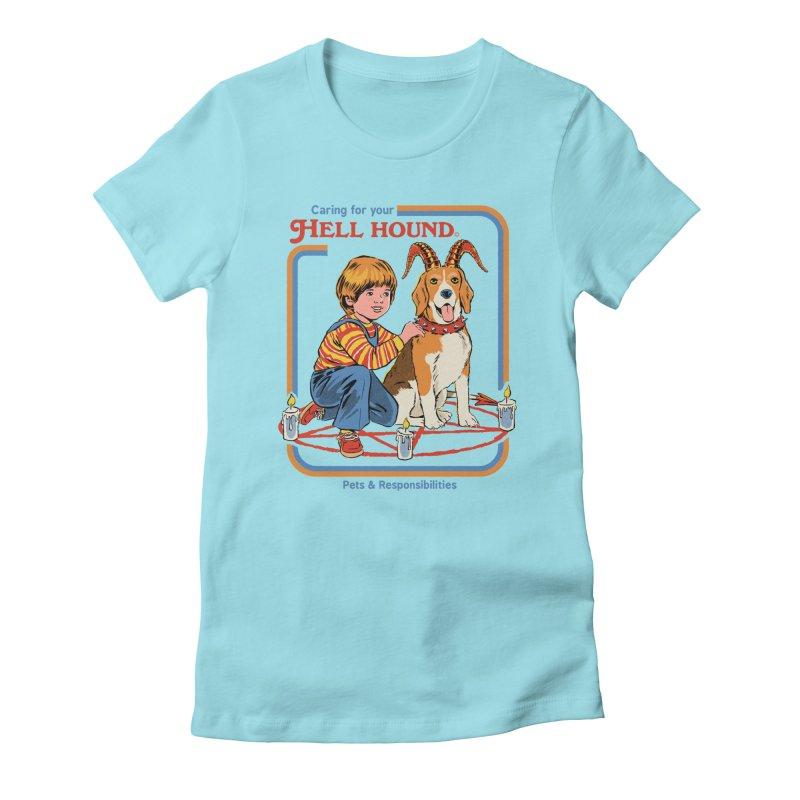 Caring For Your Hell Hound Women's Fitted T-Shirt by Steven Rhodes