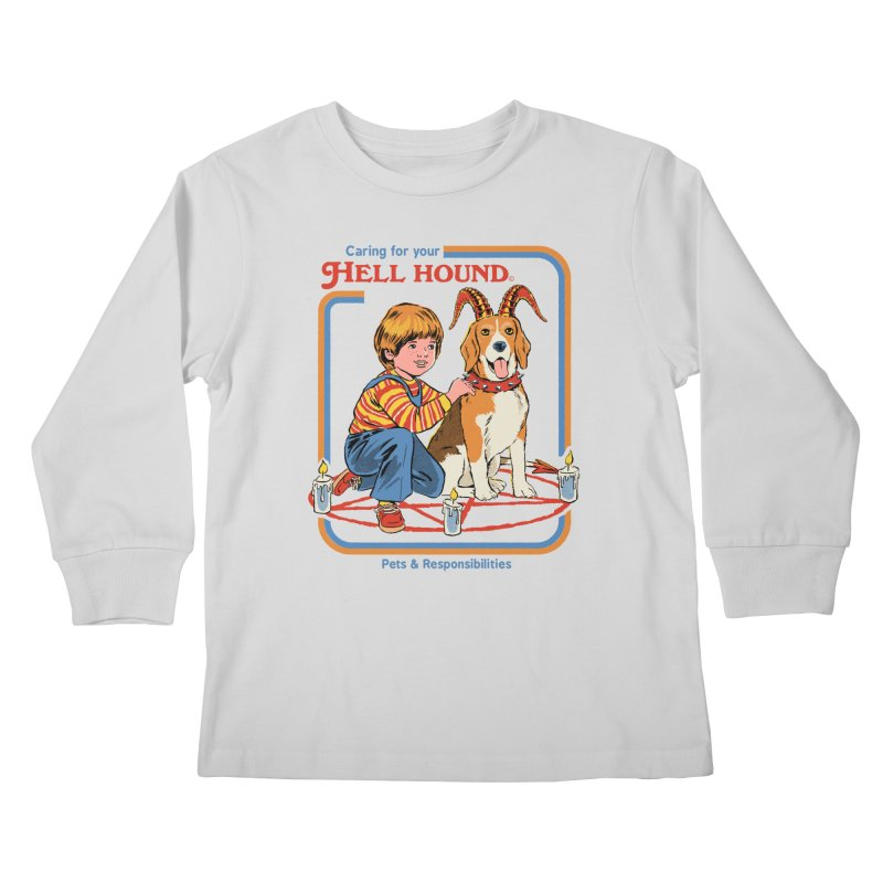Caring For Your Hell Hound Kids Longsleeve T-Shirt by Steven Rhodes