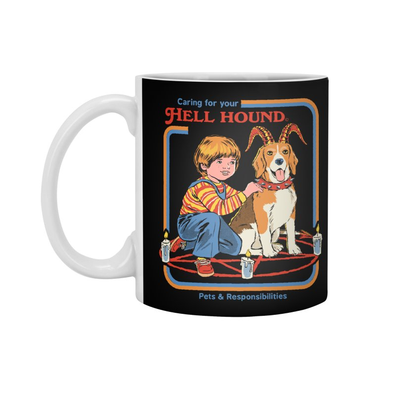 Caring For Your Hell Hound Accessories Standard Mug by Steven Rhodes