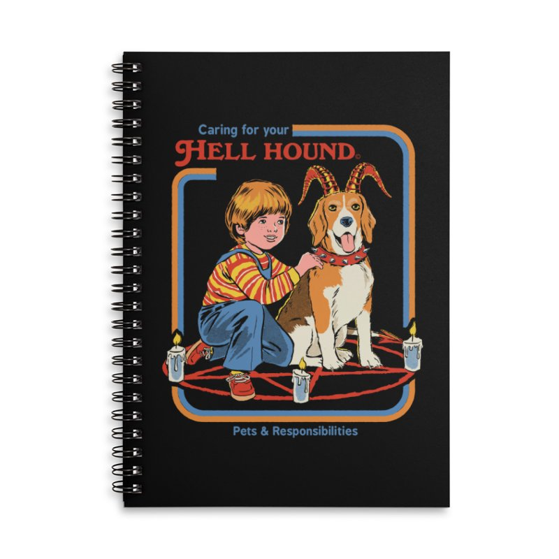 Caring For Your Hell Hound Accessories Lined Spiral Notebook by Steven Rhodes