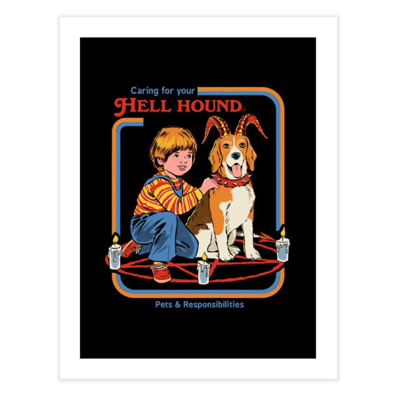Caring For Your Hell Hound Home Fine Art Print by Steven Rhodes