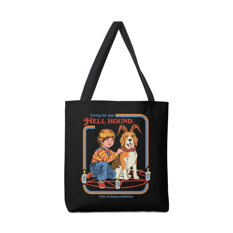 Caring For Your Hell Hound Accessories Tote Bag Bag by Steven Rhodes