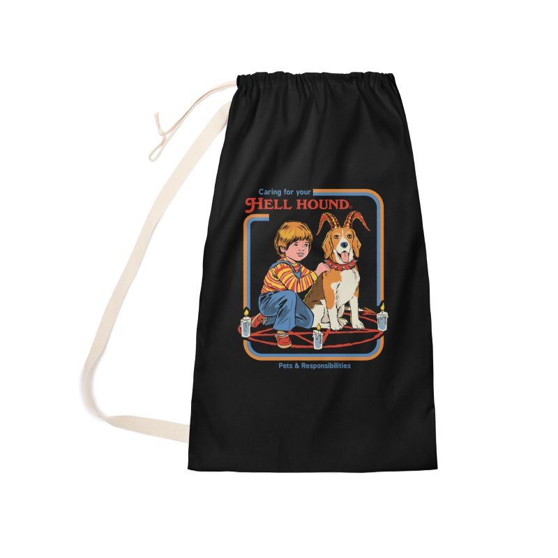 Caring For Your Hell Hound Accessories Laundry Bag Bag by Steven Rhodes