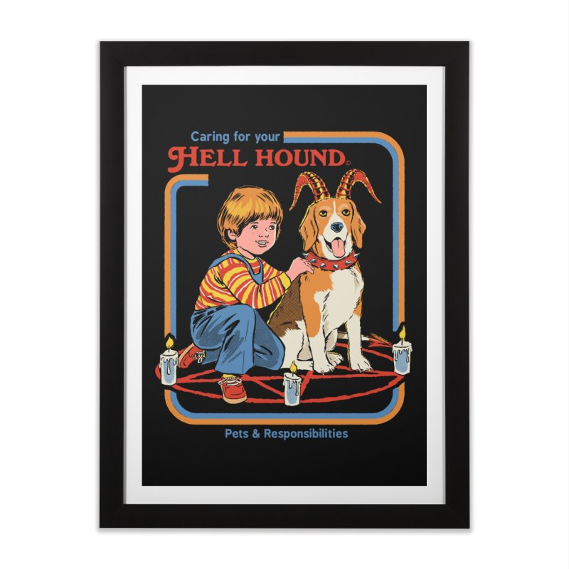 Caring For Your Hell Hound Home Framed Fine Art Print by Steven Rhodes