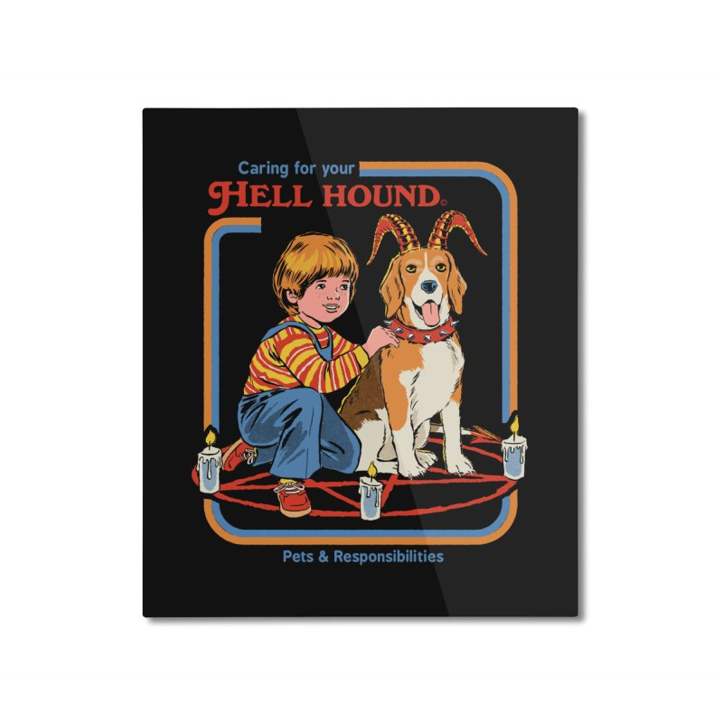 Caring For Your Hell Hound Home Mounted Aluminum Print by Steven Rhodes