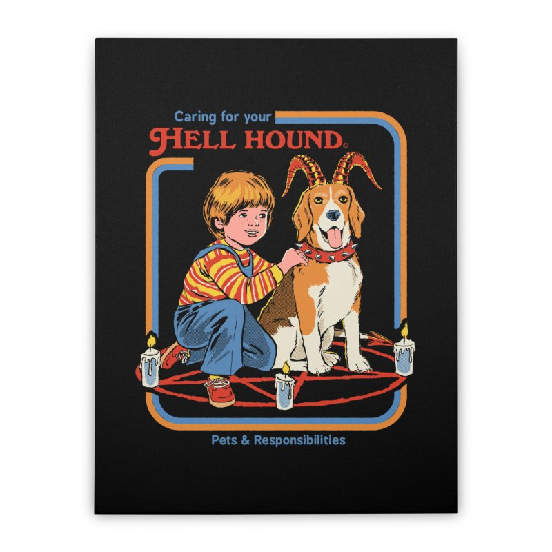Caring For Your Hell Hound Home Stretched Canvas by Steven Rhodes