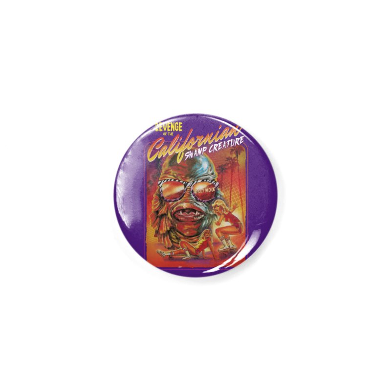 Californian Swamp Creature Accessories Button by Steven Rhodes