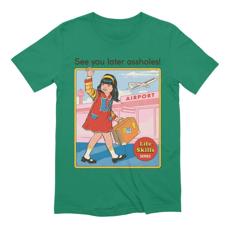 See You Later Men's Extra Soft T-Shirt by Steven Rhodes