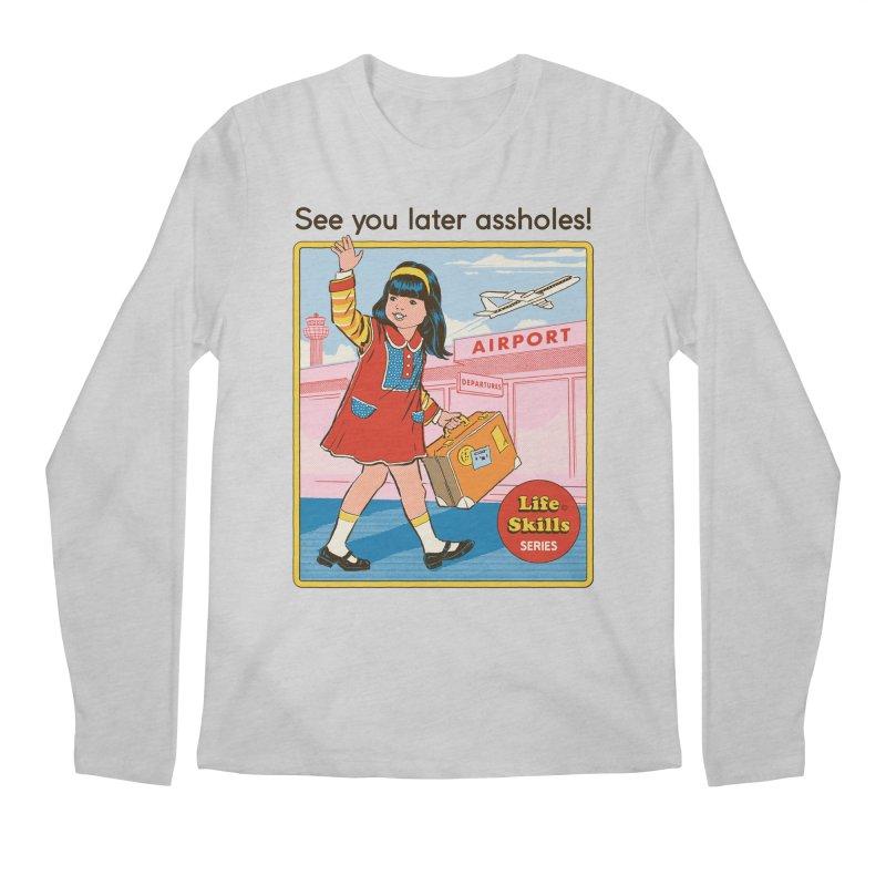 See You Later Men's Regular Longsleeve T-Shirt by Steven Rhodes