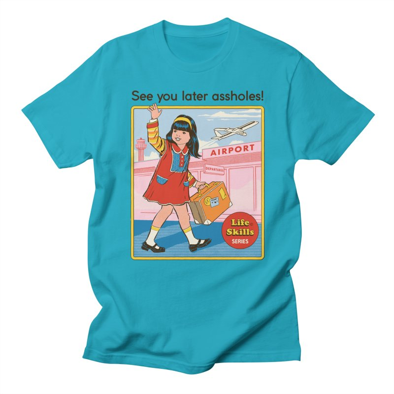 See You Later Men's Regular T-Shirt by Steven Rhodes