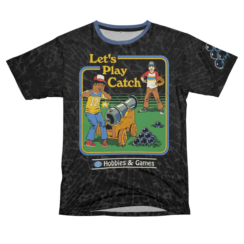 Let's Play Catch Men's T-Shirt Cut & Sew by Steven Rhodes
