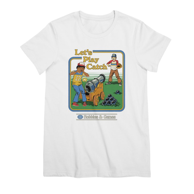 Let's Play Catch Women's Premium T-Shirt by Steven Rhodes