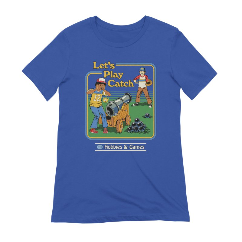 Let's Play Catch Women's Extra Soft T-Shirt by Steven Rhodes