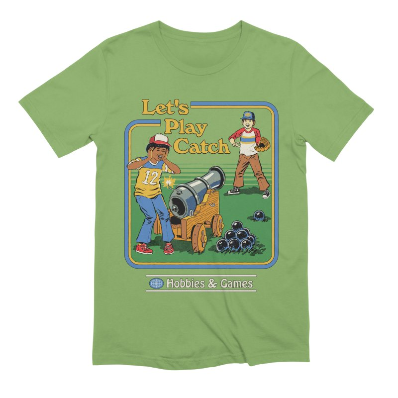 Let's Play Catch Men's Extra Soft T-Shirt by Steven Rhodes