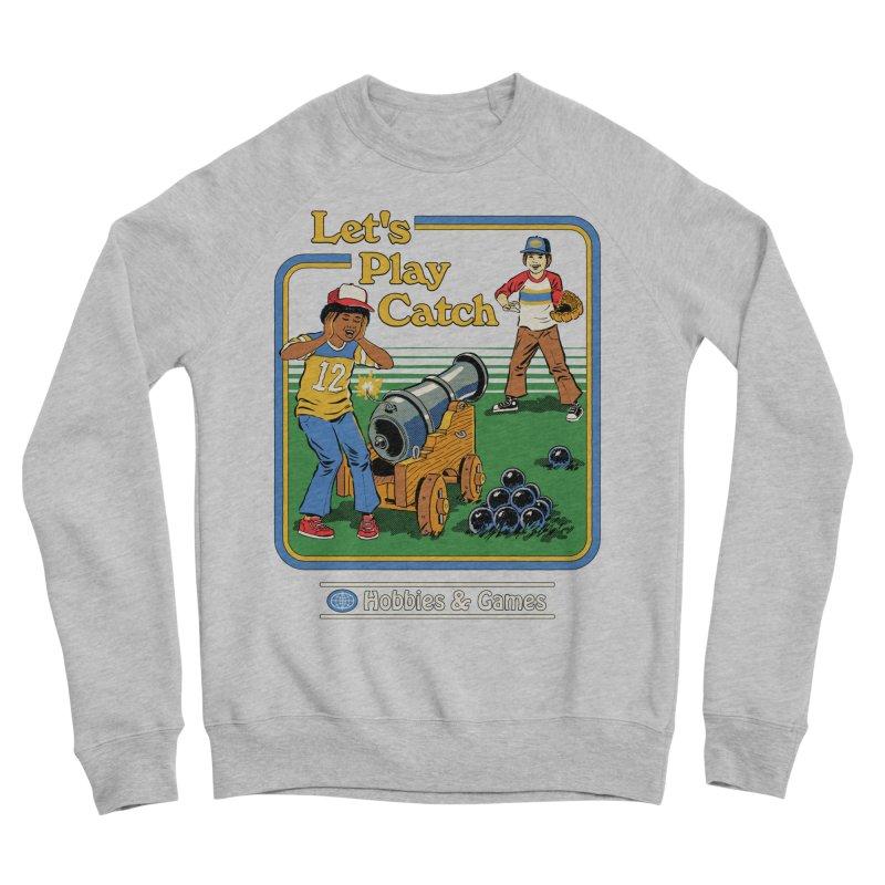 Let's Play Catch Men's Sponge Fleece Sweatshirt by Steven Rhodes