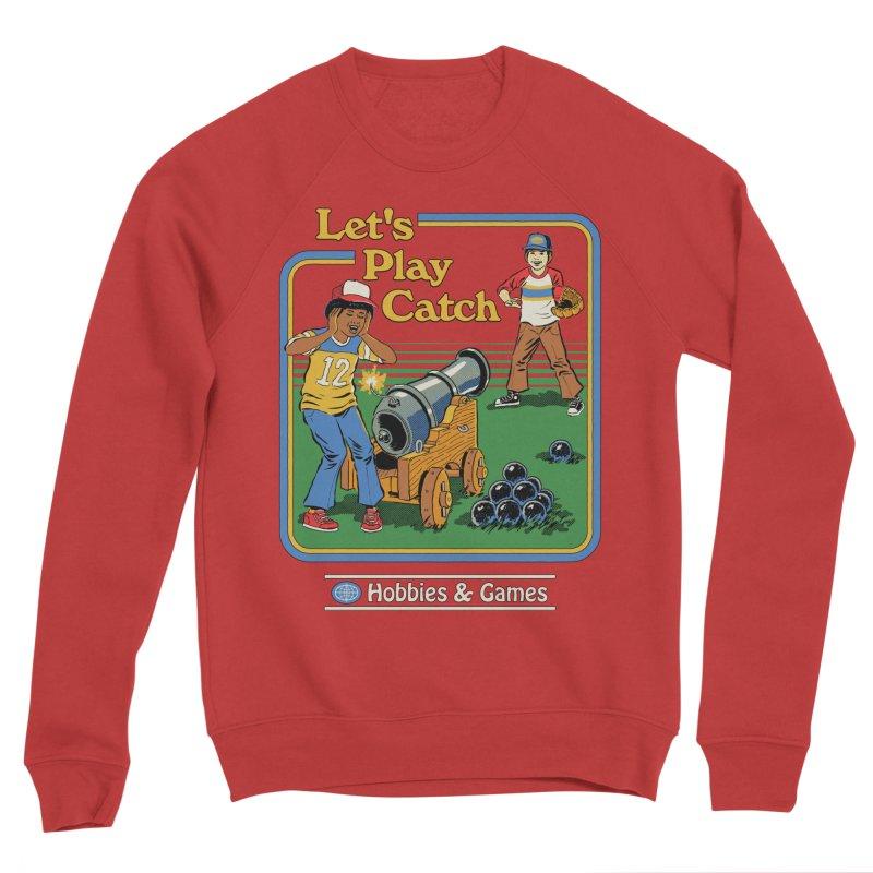 Let's Play Catch Women's Sponge Fleece Sweatshirt by Steven Rhodes
