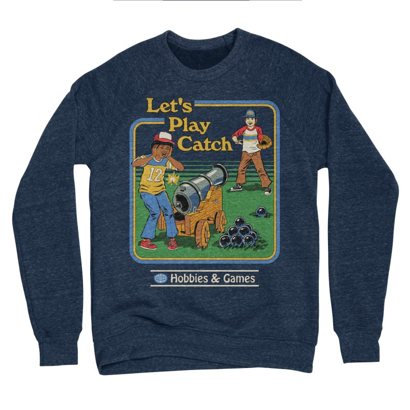 Let's Play Catch Men's Sponge Fleece Sweatshirt by Steven Rhodes