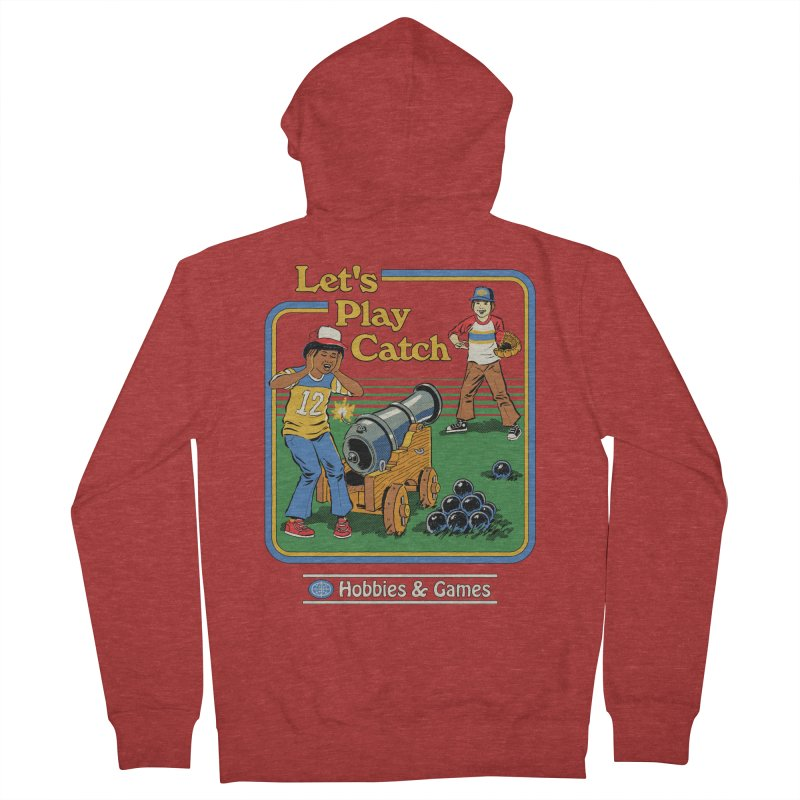 Let's Play Catch Women's French Terry Zip-Up Hoody by Steven Rhodes