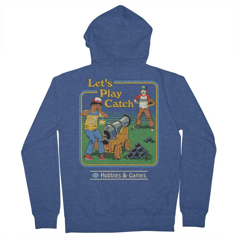Let's Play Catch Men's French Terry Zip-Up Hoody by Steven Rhodes