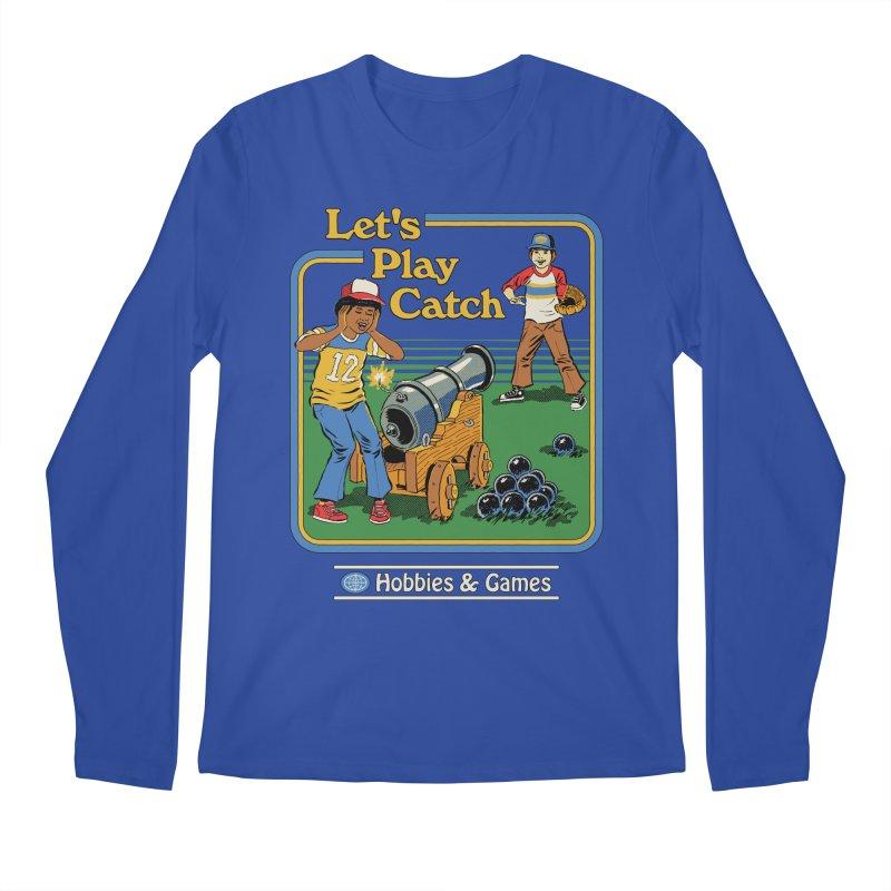 Let's Play Catch Men's Regular Longsleeve T-Shirt by Steven Rhodes