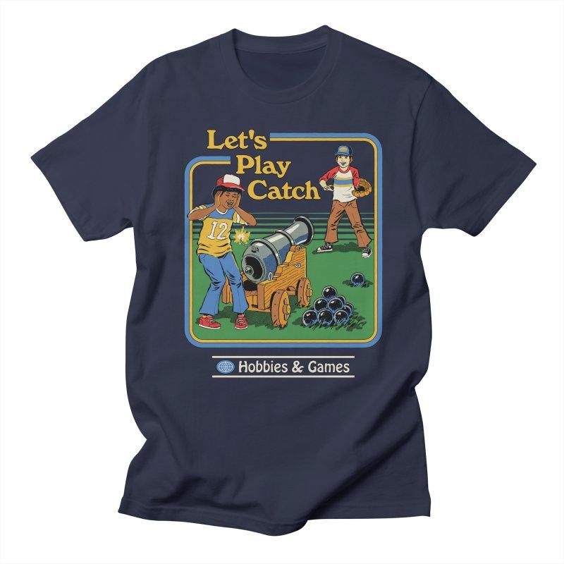 Let's Play Catch Men's Regular T-Shirt by Steven Rhodes
