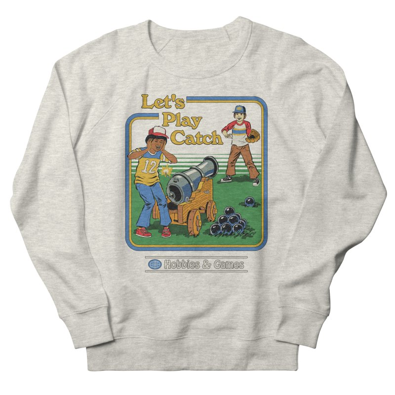 Let's Play Catch Men's French Terry Sweatshirt by Steven Rhodes