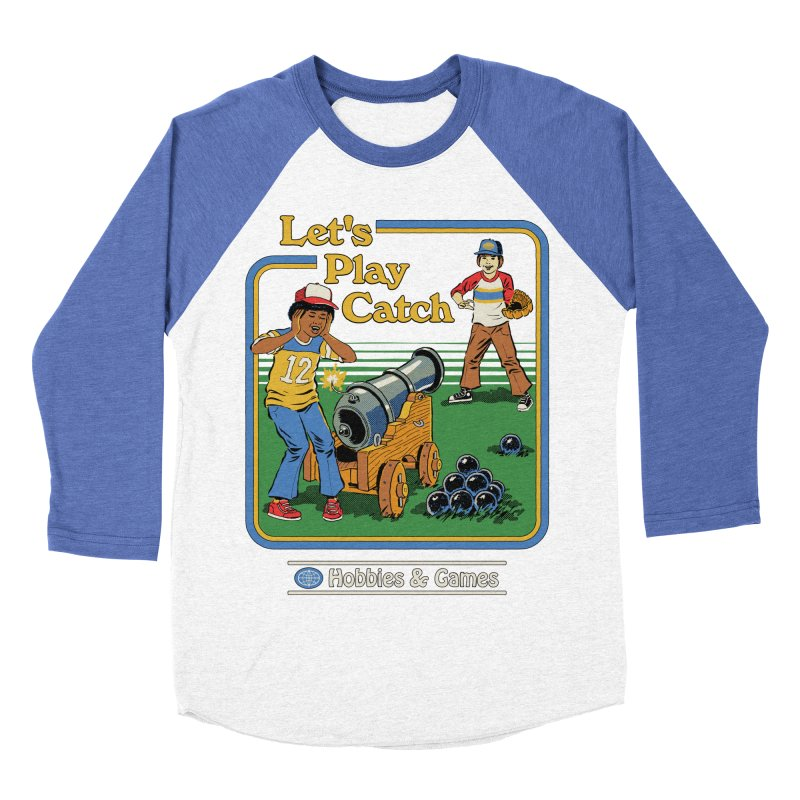 Let's Play Catch Women's Baseball Triblend Longsleeve T-Shirt by Steven Rhodes