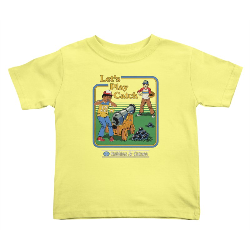 Let's Play Catch Kids Toddler T-Shirt by Steven Rhodes