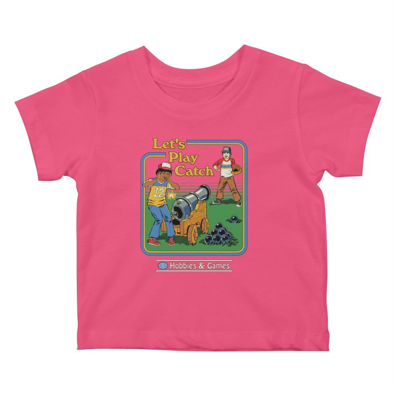 Let's Play Catch Kids Baby T-Shirt by Steven Rhodes
