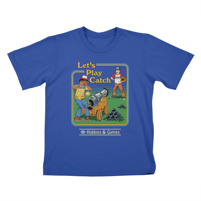 Let's Play Catch Kids T-Shirt by Steven Rhodes