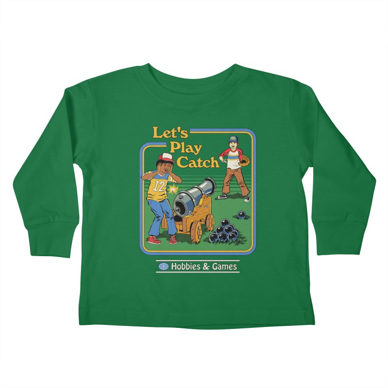 Let's Play Catch Kids Toddler Longsleeve T-Shirt by Steven Rhodes