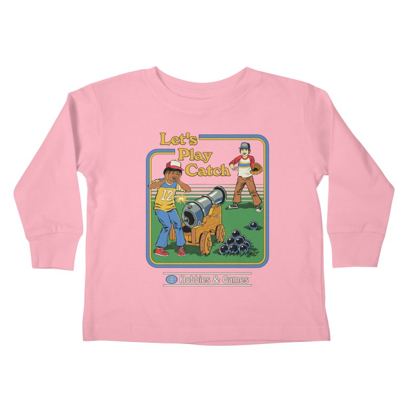 Let's Play Catch Kids Toddler Longsleeve T-Shirt by Steven Rhodes