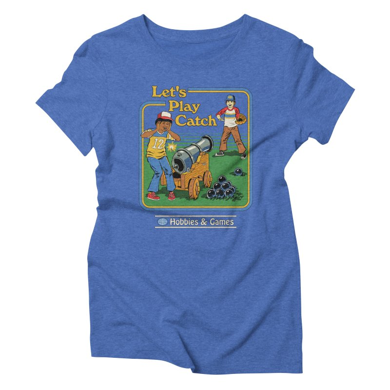 Let's Play Catch Women's Triblend T-Shirt by Steven Rhodes