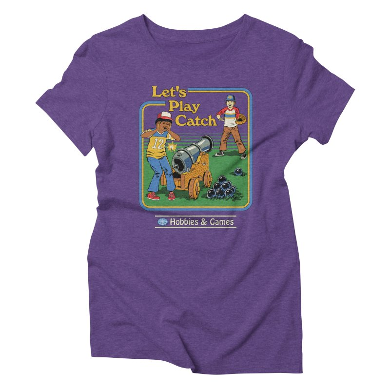 Let's Play Catch Women's Triblend T-Shirt by Steven Rhodes