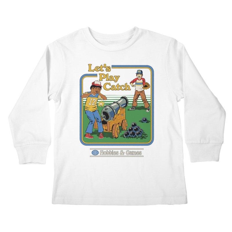 Let's Play Catch Kids Longsleeve T-Shirt by Steven Rhodes