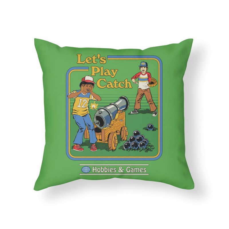 Let's Play Catch Home Throw Pillow by Steven Rhodes