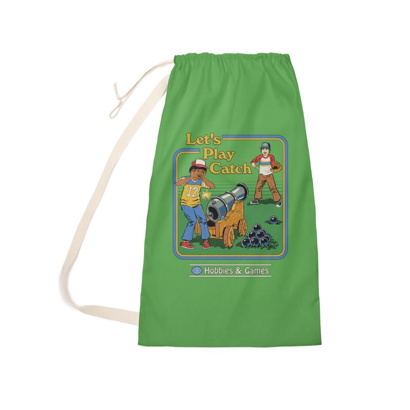 Let's Play Catch Accessories Laundry Bag Bag by Steven Rhodes