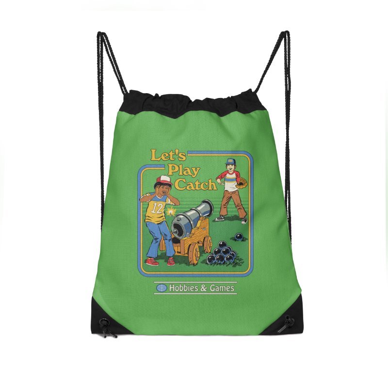 Let's Play Catch Accessories Drawstring Bag Bag by Steven Rhodes