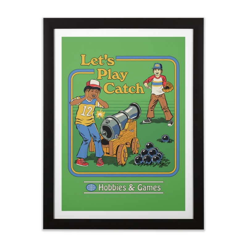 Let's Play Catch Home Framed Fine Art Print by Steven Rhodes