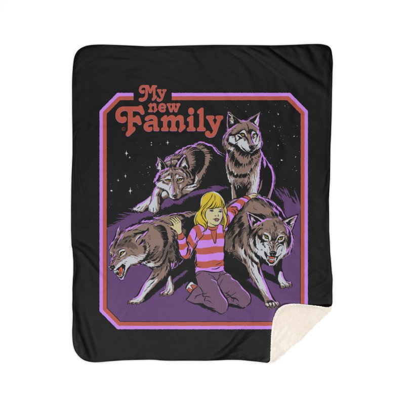 My New Family Home Sherpa Blanket Blanket by Steven Rhodes