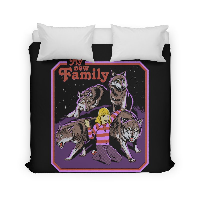 My New Family Home Duvet by Steven Rhodes