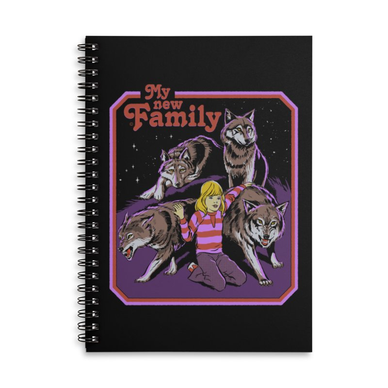 My New Family Accessories Lined Spiral Notebook by Steven Rhodes