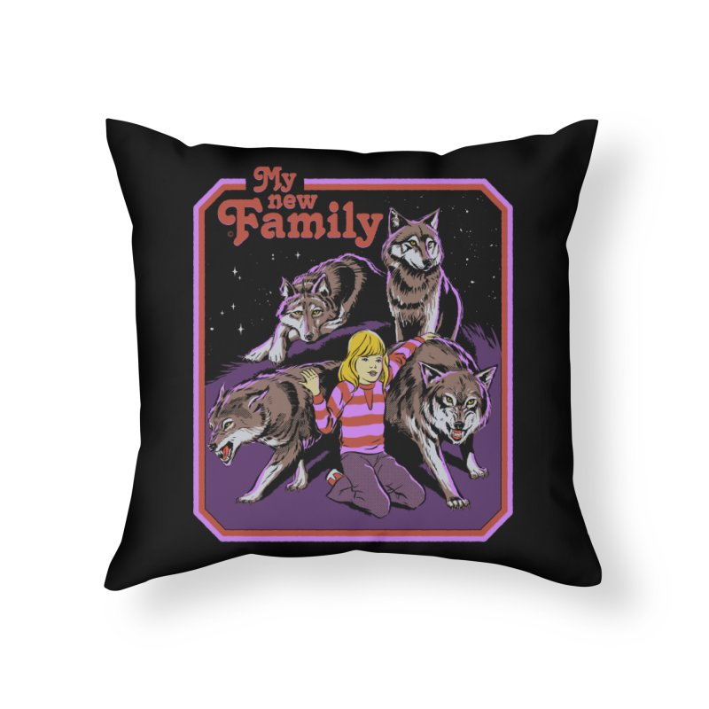 My New Family Home Throw Pillow by Steven Rhodes