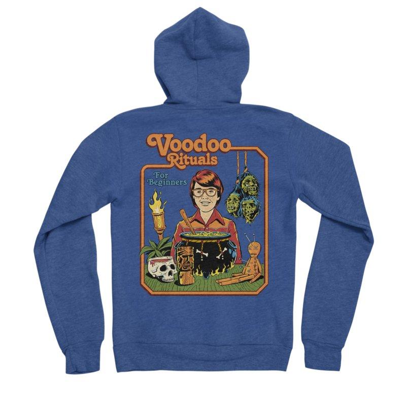 Voodoo Rituals For Beginners Men's Sponge Fleece Zip-Up Hoody by Steven Rhodes