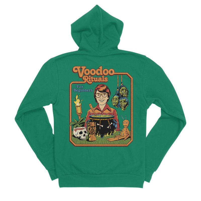 Voodoo Rituals For Beginners Men's Sponge Fleece Zip-Up Hoody by Steven Rhodes