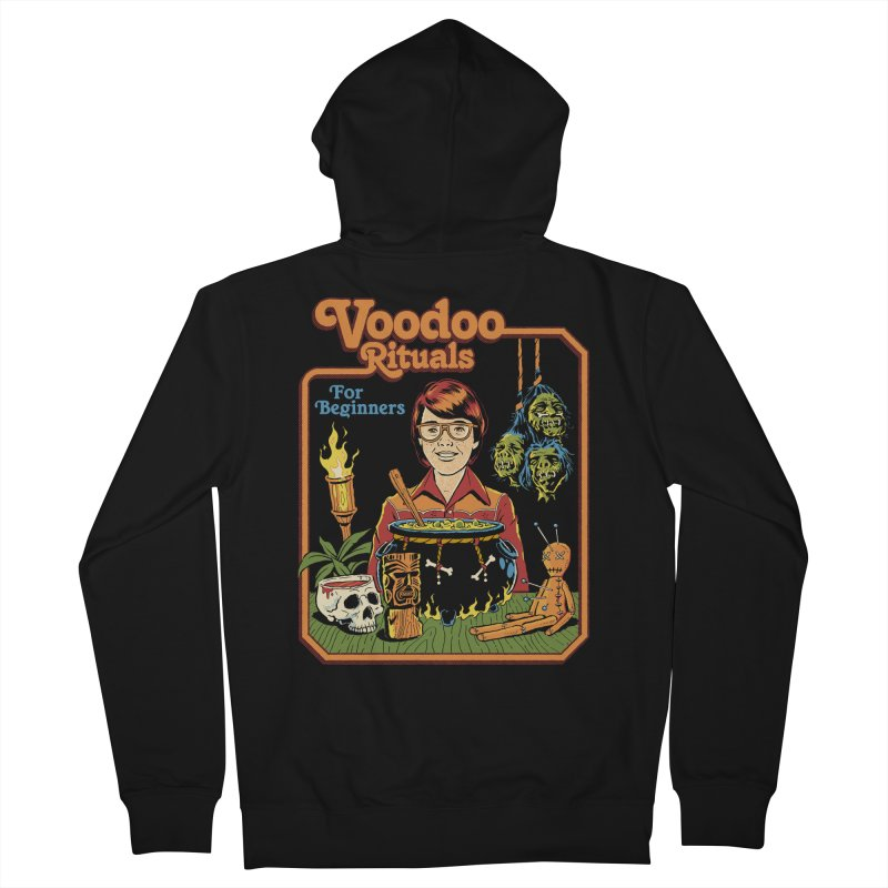 Voodoo Rituals For Beginners Women's French Terry Zip-Up Hoody by Steven Rhodes