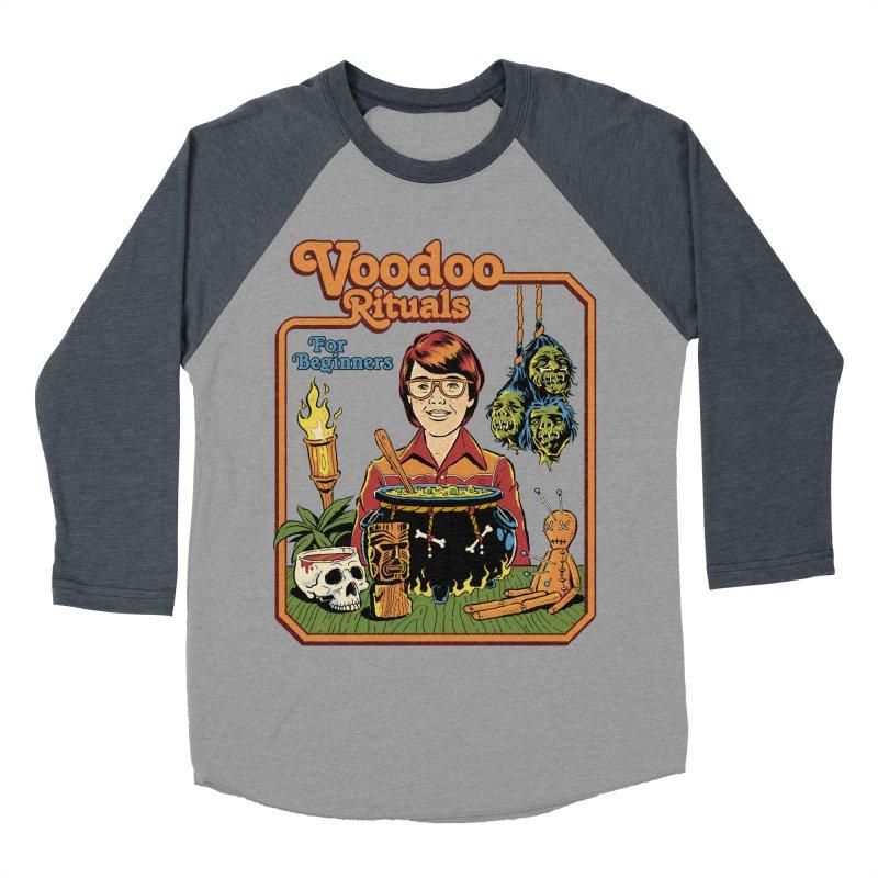Voodoo Rituals For Beginners Men's Baseball Triblend Longsleeve T-Shirt by Steven Rhodes