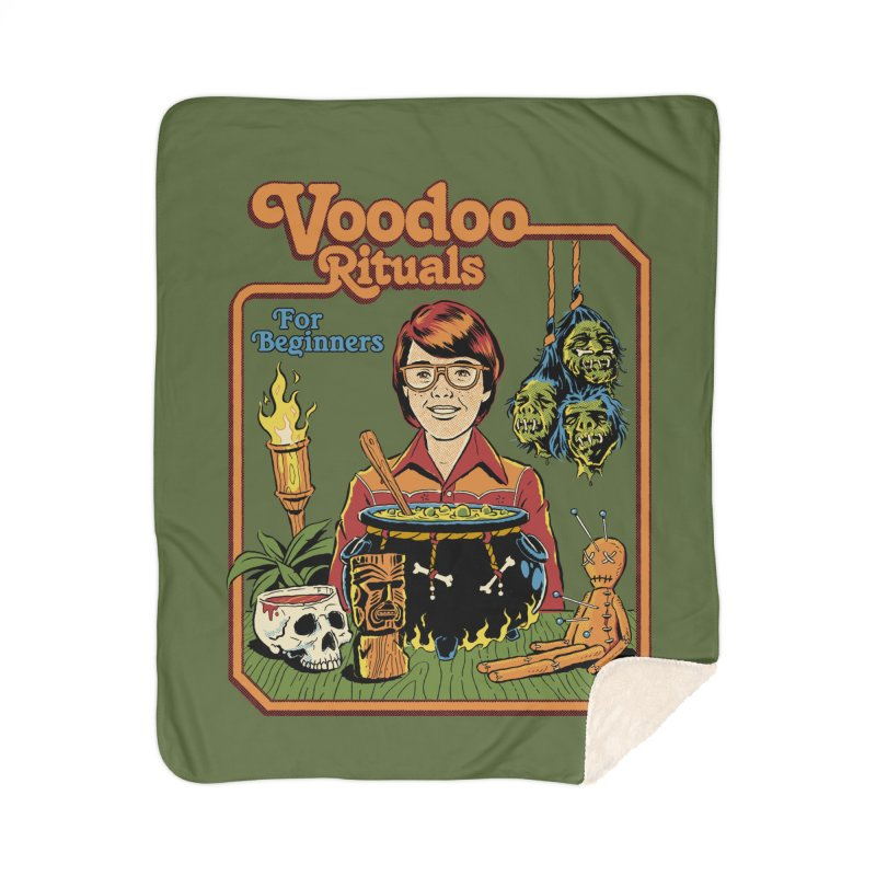 Voodoo Rituals For Beginners Home Sherpa Blanket Blanket by Steven Rhodes